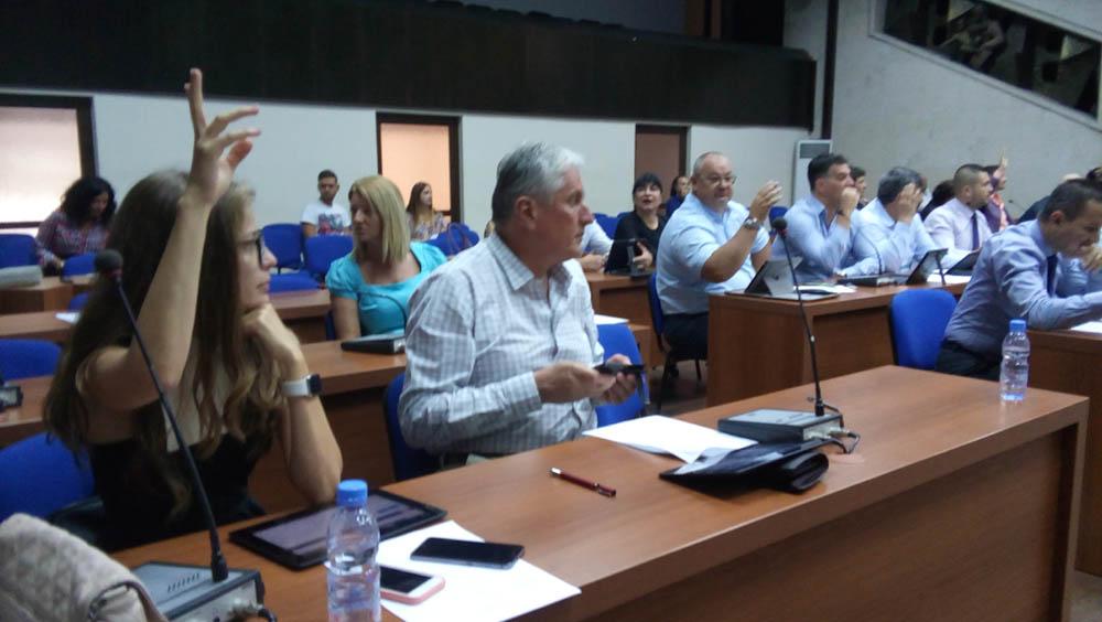 Моменти от сесията на ОбС - Благоевград